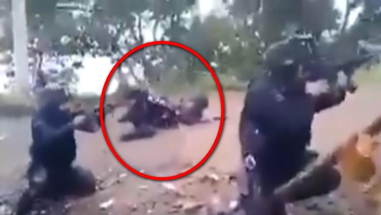 Así se vivió fuerte enfrentamiento entre Policías y Guardia Nacional contra sicarios en la comunidad de la Gallina, en Uruapan