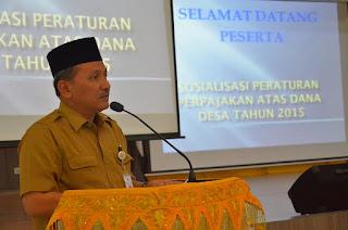 Dana Desa Harus Sesuai Standar Akuntansi Pemerintah