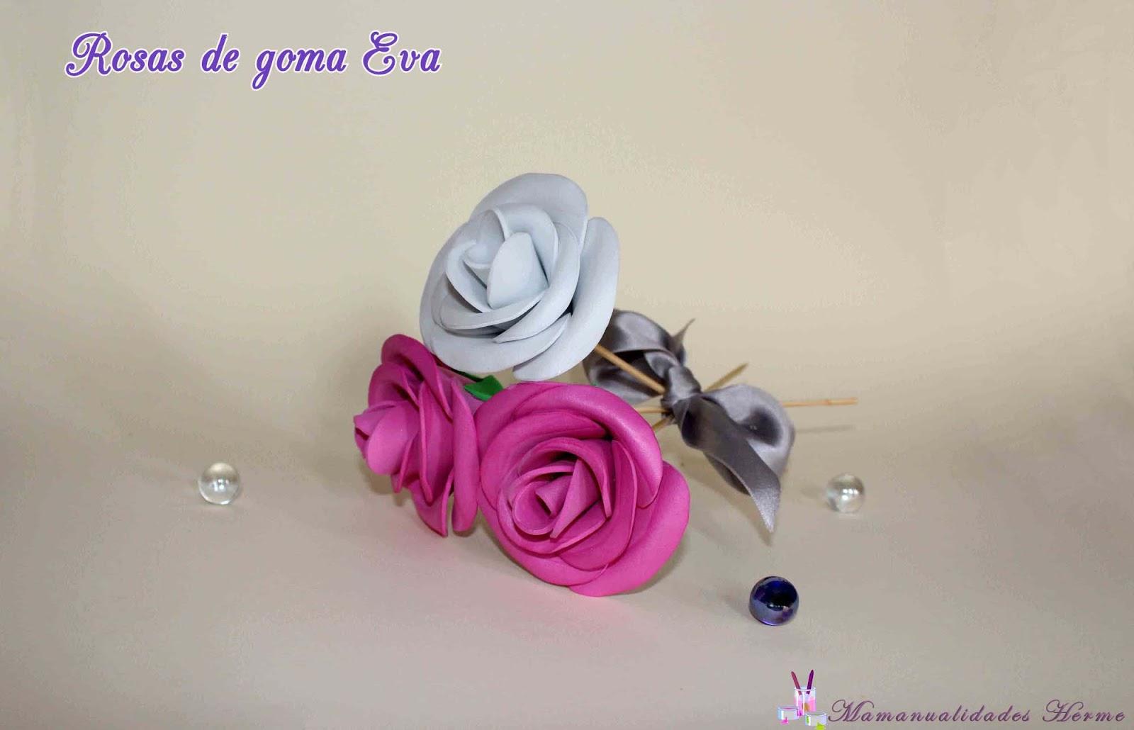 manualidades herme Como hacer rosas de goma Eva