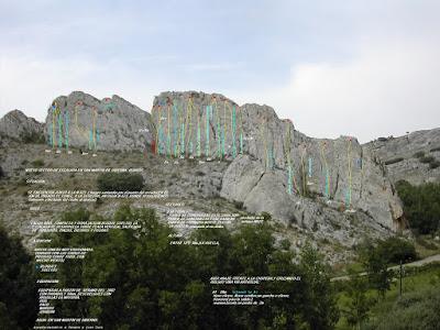 Escalada en San Martín de Ubierna, Burgos