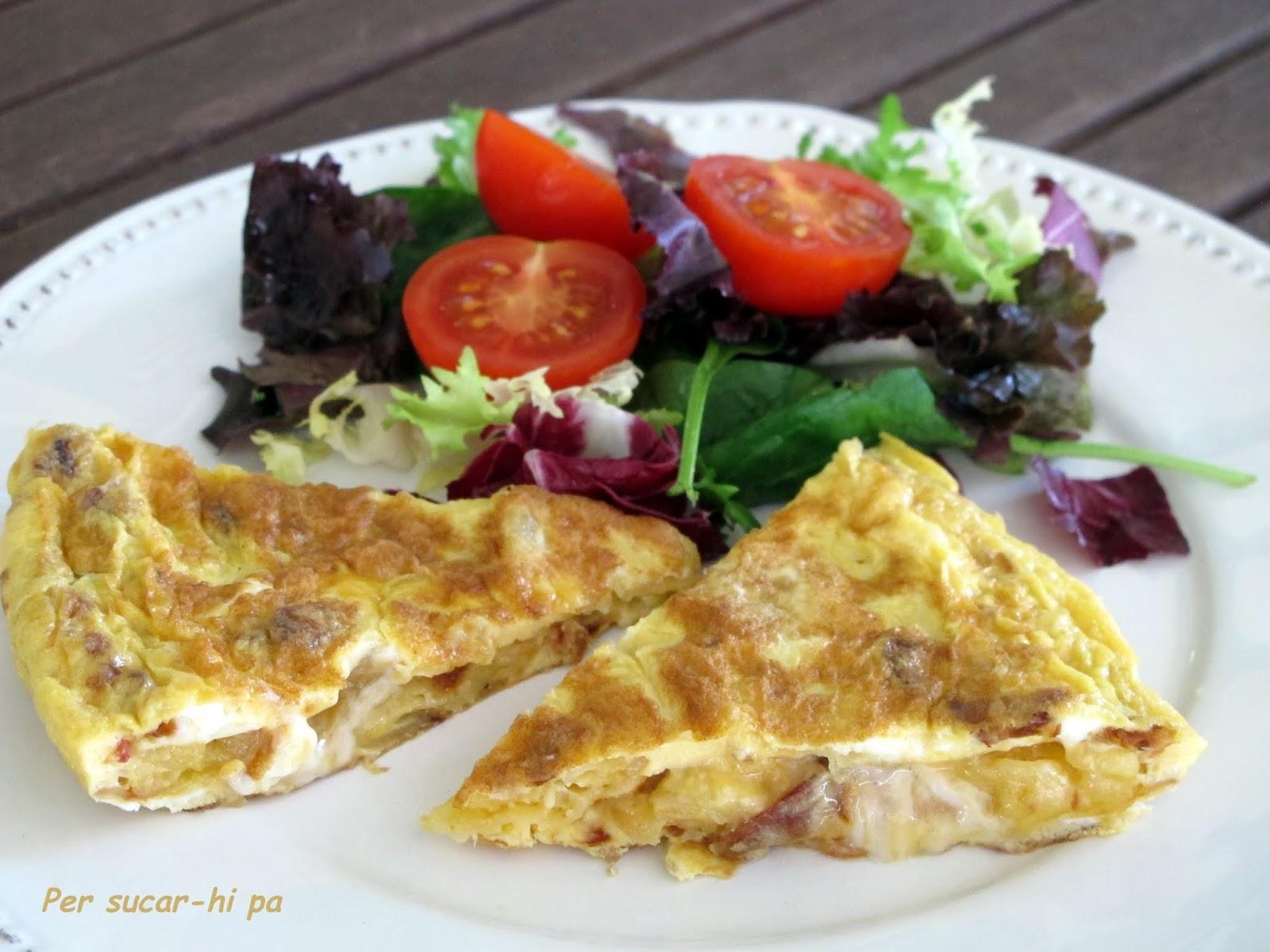 Tortilla de patata y cebolla en 5 minutos