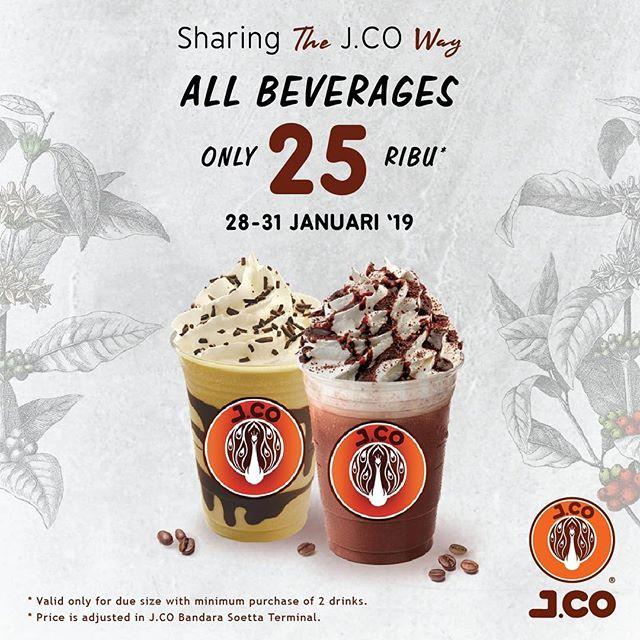 #JCO - #Promo All Beverages Hanya 25 K (28 - 31 Jan 2019)