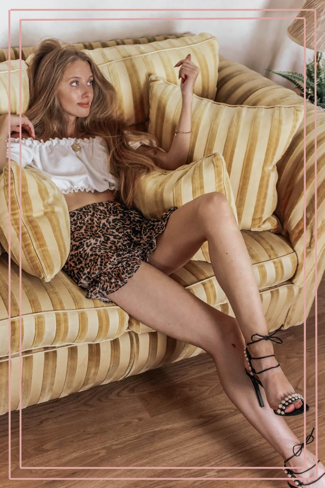 Luxury Fashion Blogger Sofa Photoshoot
