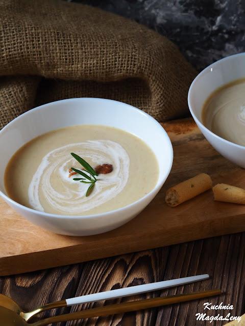 Kremowa zupa kurkowa