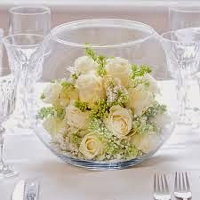 wedding fish bowls decoration ideas with flowers