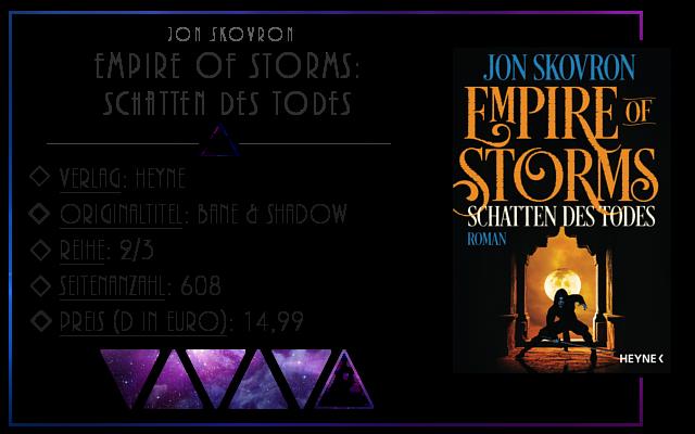 [Rezension] Empire Of Storms: Schatten des Todes - Jon Skovron