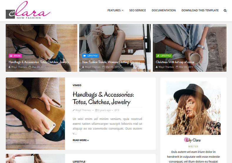Clara Fashion Blogger Template Blogger Templates Gallery - fashion blogger templates