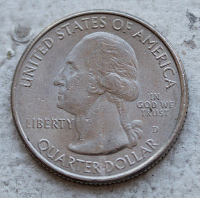 Obverse of 2011-D Gettysburg Quarter, Washington D for Denver