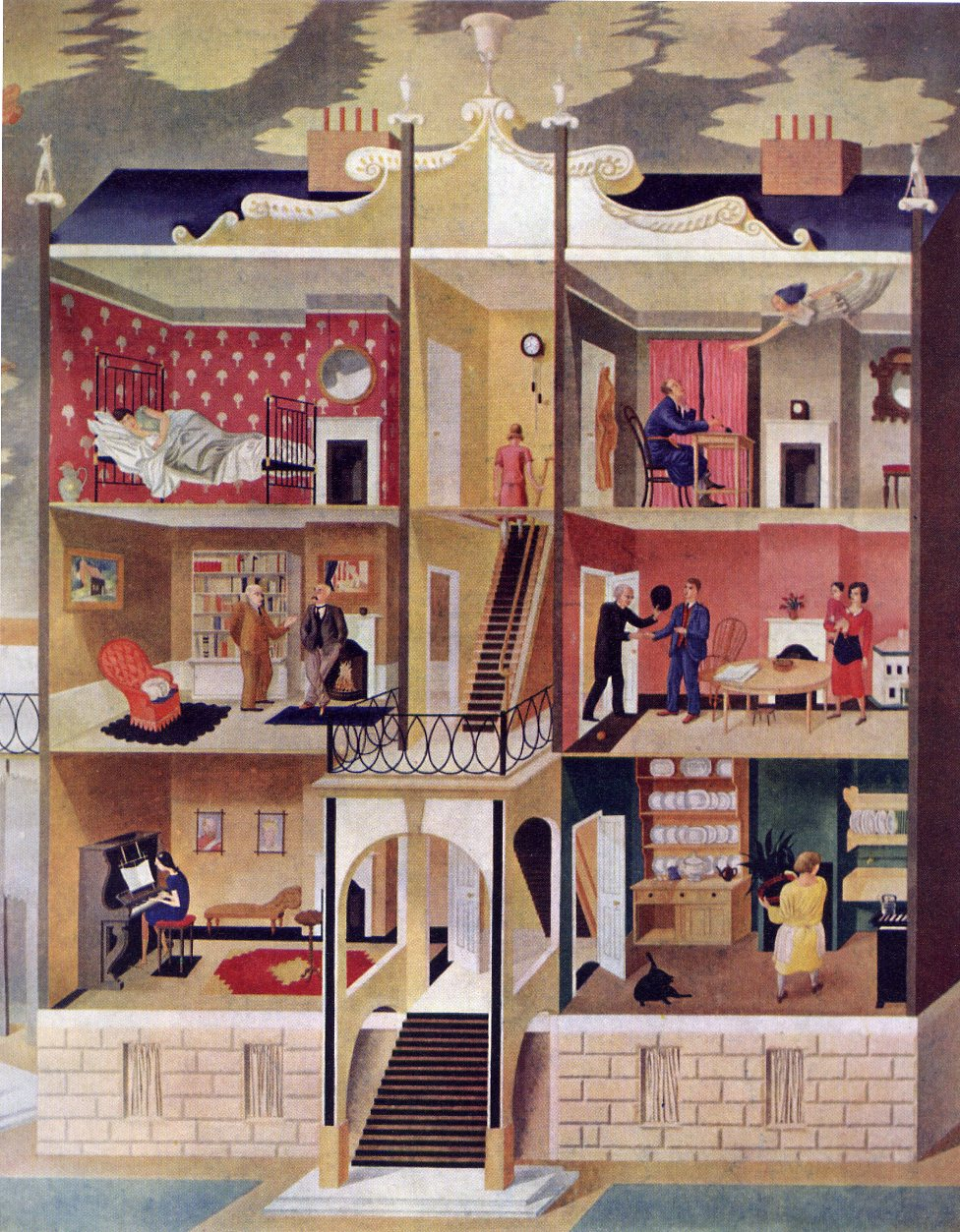 james russell a lost ravilious mural. Black Bedroom Furniture Sets. Home Design Ideas