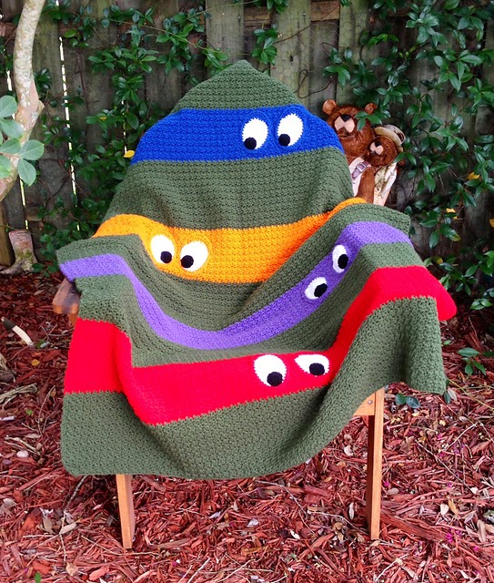 http://www.ravelry.com/projects/kathy862/teenage-mutant-ninja-turtle-blanket