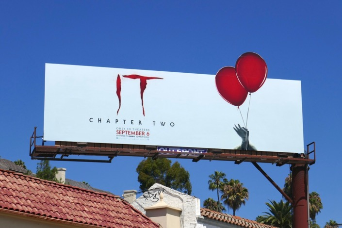 IT Chapter Two balloons extension billboard