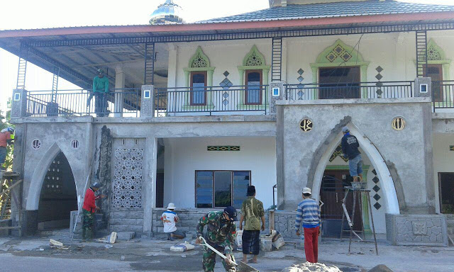 Satgas TMMD Kodim 1404/Pinrang Hampir Rampungkan Rehab Masjid Nurul Hijra