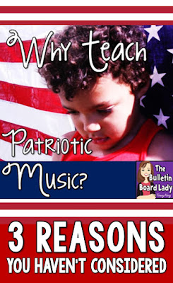 Why Teach Patriotic Music - 3 Reasons You Haven't Considered.  Why is it important to teach patriotic music?  Is it really?  Listen to a veteran music teacher discuss this from her point of view.