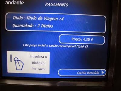 Comprando bilhetes de metro do Porto