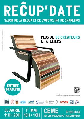 Recup'Date 2016, créativité, recyclage, upcycling, récup, CEME, Dampremy