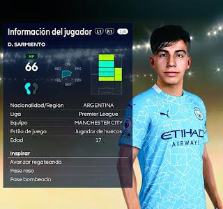 PES 2021 Faces Dario Sarmiento by Nahue
