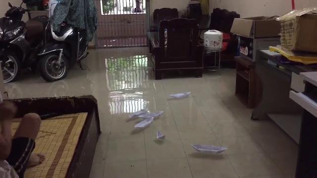Nước ngập vào nhà