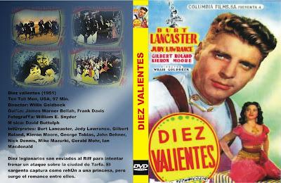 Carátula dvd de la película Diez valientes / Ten Tall Men