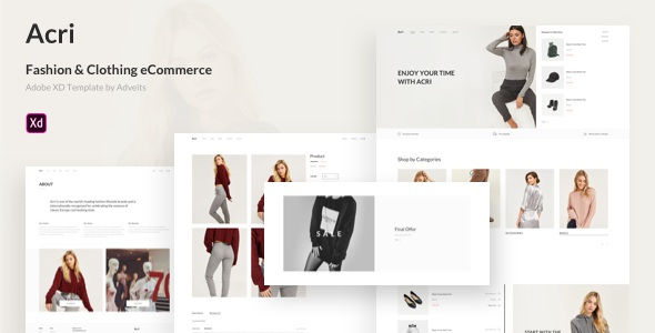 Fashion & Clothing eCommerce Adobe XD Template