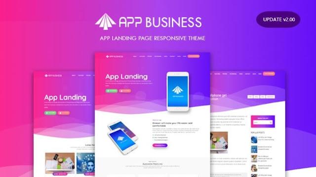 Mẫu Blogger đáp ứng tải miễn phí Landing Page App Business v2.0