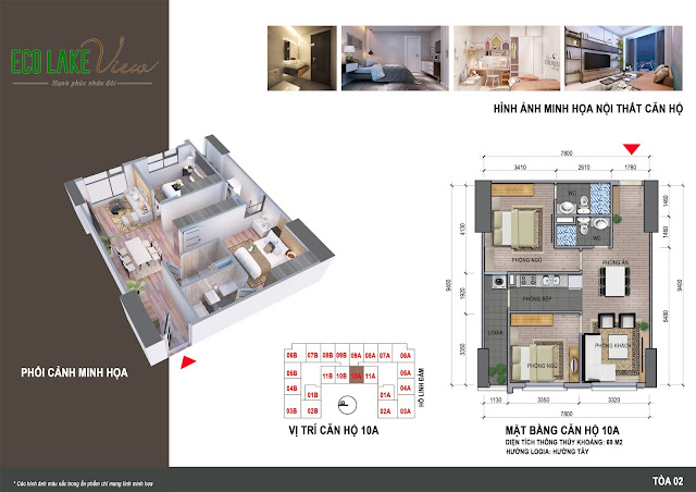 Thiết kế căn hô 10A chung cư Eco Lake View
