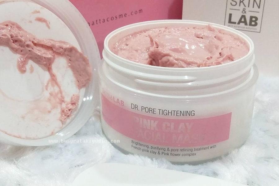natta cosme, pink clay facial mask, clay mask, skin & lab, Dr. Pore tightening, mask lumpur, mencerahkan kulit, membersihkan kulit,