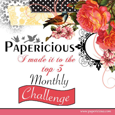 Made it to Top 3 @ Papericious Feb'17 Challenge