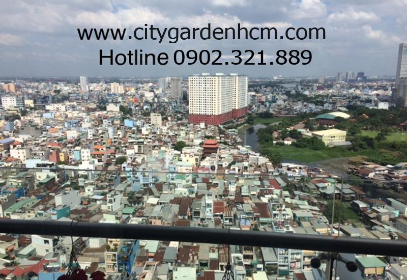 view đẹp trung tâm thành phố tại căn hộ 3 phòng ngủ cho thuê city garden