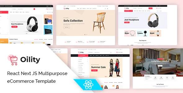 Best React Next JS Multipurpose eCommerce Template