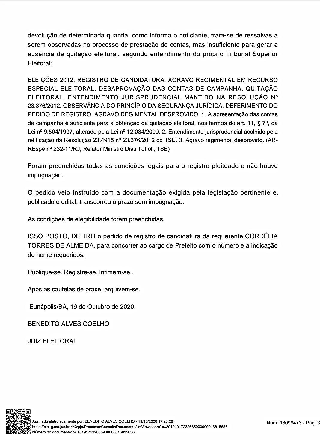É DEFINITIVO: Juiz Eleitoral considera Cordélia apta para concorrer ao cargo de prefeita 33