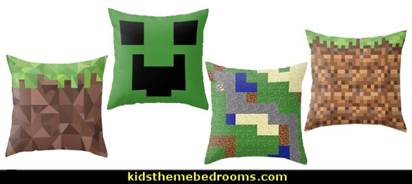 minecraft throw pillows  minecraft bedroom ideas - minecraft bedroom decor