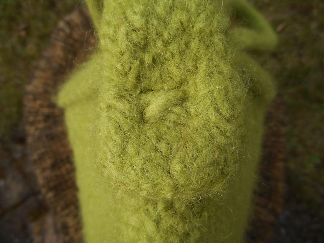 Borsa di lana infeltrita