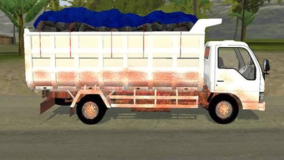 mod bussid truck isuzu nkr71 dump standar