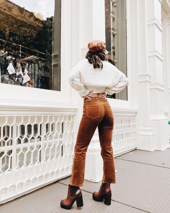 Orange Corduroy Pants