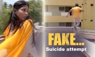A Suicide attempt…. but FAKE!