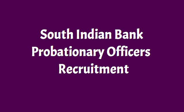 South Indian Bank PO Probationary Officers