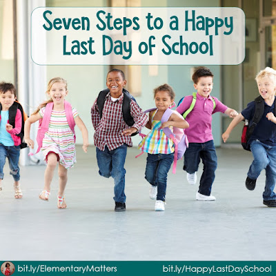 Seven Steps to a Happy Last Day of School-Part 5: Make sure they have something to read! This post includes a freebie summer vacation list!