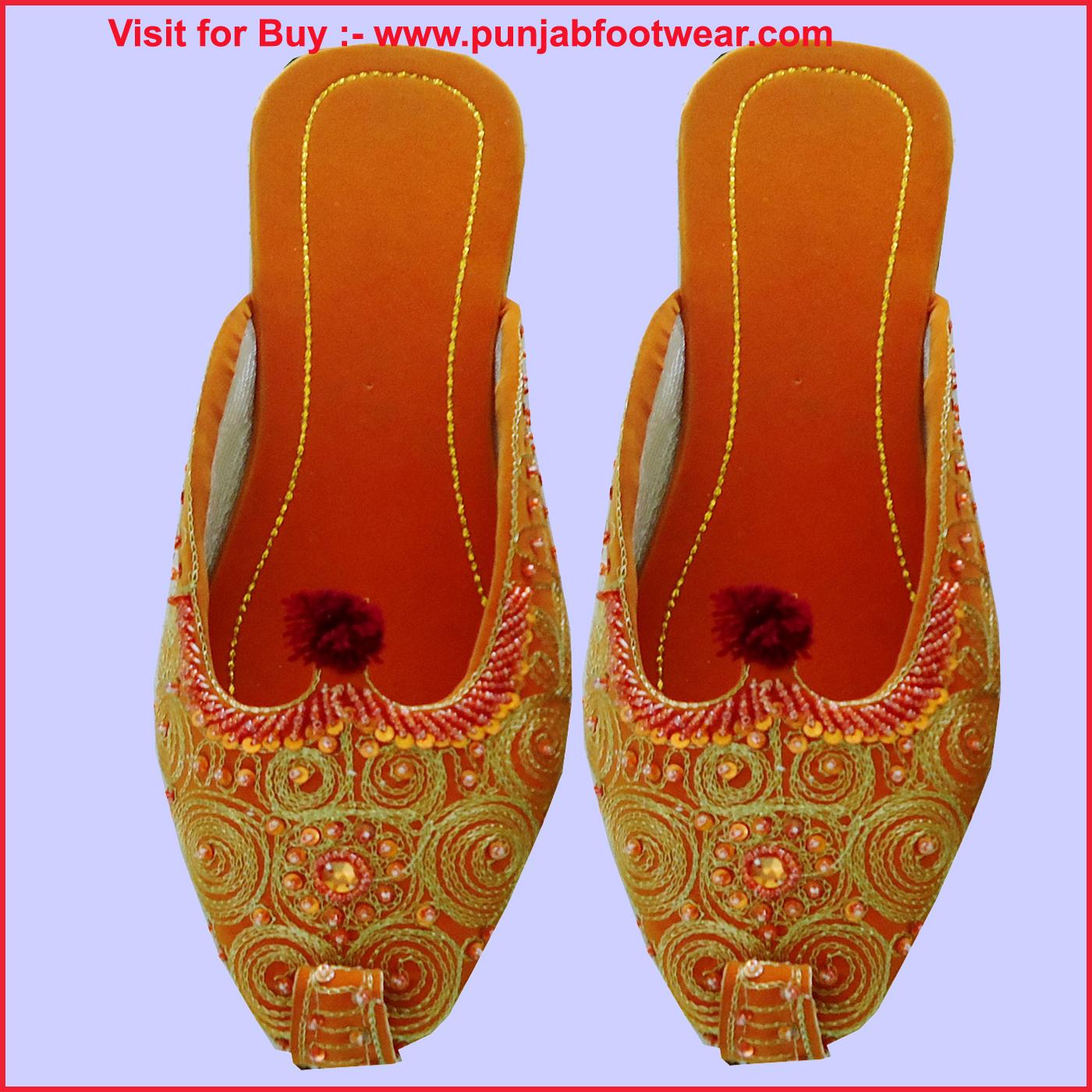 Women Beaded Shoe Designer Shoe Indian Khussa Shoes