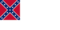 Second national flag of the Confederate States of America (1863-1865), including the battle emblem now often known as the Confederate Flag
