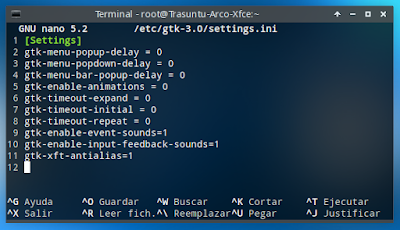 root gtk-3 setting. ini