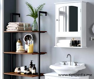 bathroom vanity with matching medicine cabinet