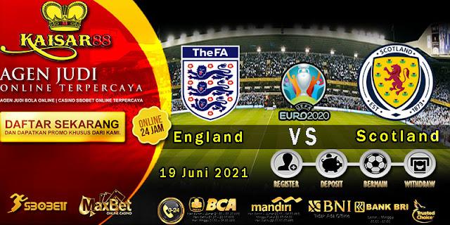Prediksi Bola Terpercaya Piala EURO Inggris vs Skotlandia 19 Juni 2021