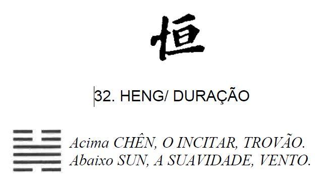 Imagem de 'Heng / Duração' - hexagrama número 32, de 64 que fazem parte do I Ching, o Livro das Mutações