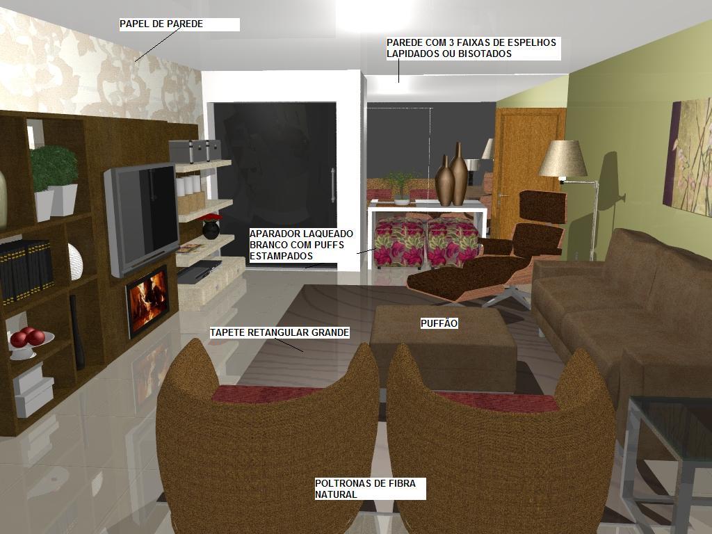 modelo de sala projetado