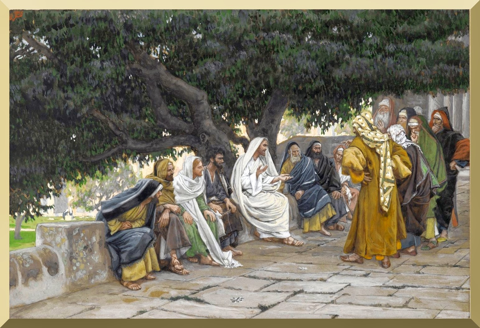 """The Pharisees and the Saduccees Come to Tempt Jesus""  -- by James Tissot"