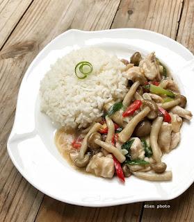 Resep Nasi Ayam Cah Jamur By @dianayupuspitasari