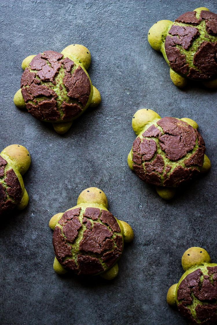 MATCHA MILK BREAD TURTLES #dessert #cake #healthyrecipe #pie #snack