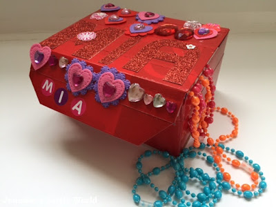 Valentine's Day themed jewellery box craft