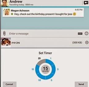 Autodelete BBM Message