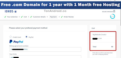 How to Get Free .com Domain for 1 year with 1 Month free Hosting
